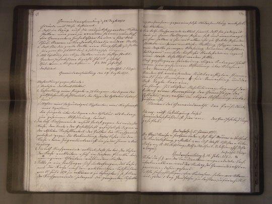Original Protokoll der Allschwiler Gemeindeversammlung vom 29. Dezember 1892