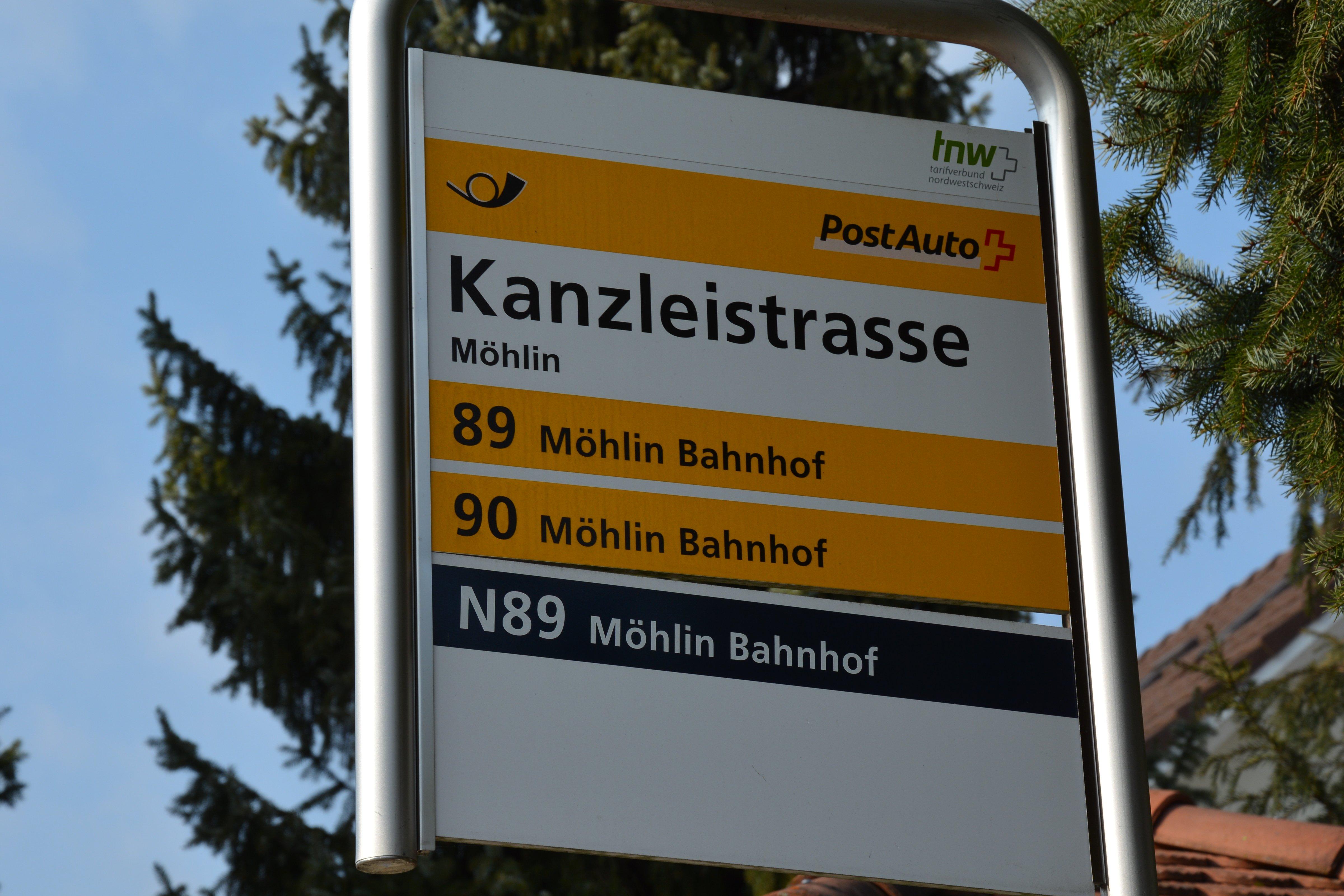 Postautohaltestelle Kanzleistrasse Möhlin
