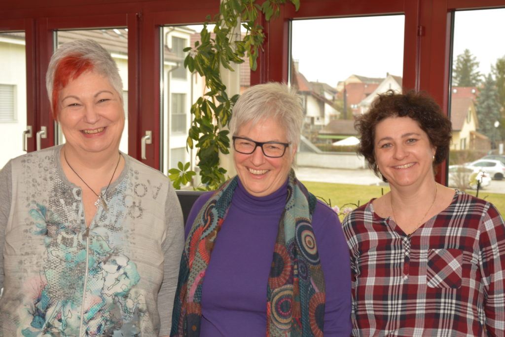 Sekretariats Team Möhlin v. links Anita Weidmann, Esther Hohermuth, Nadja Budmiger