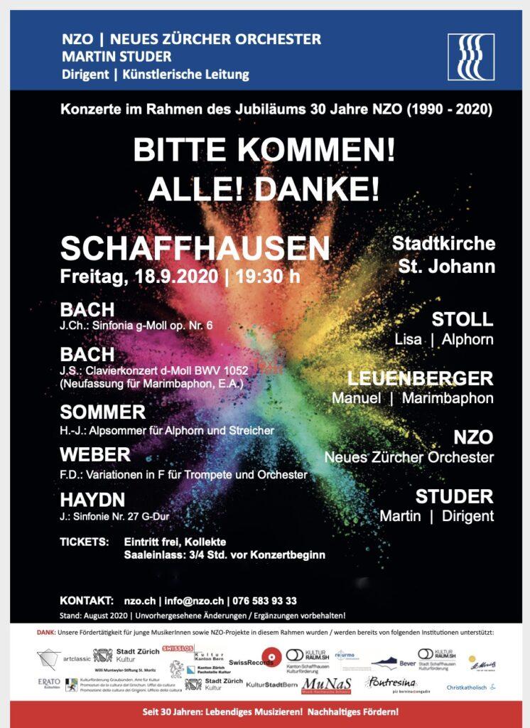 Konzert NZO in Schaffhausen