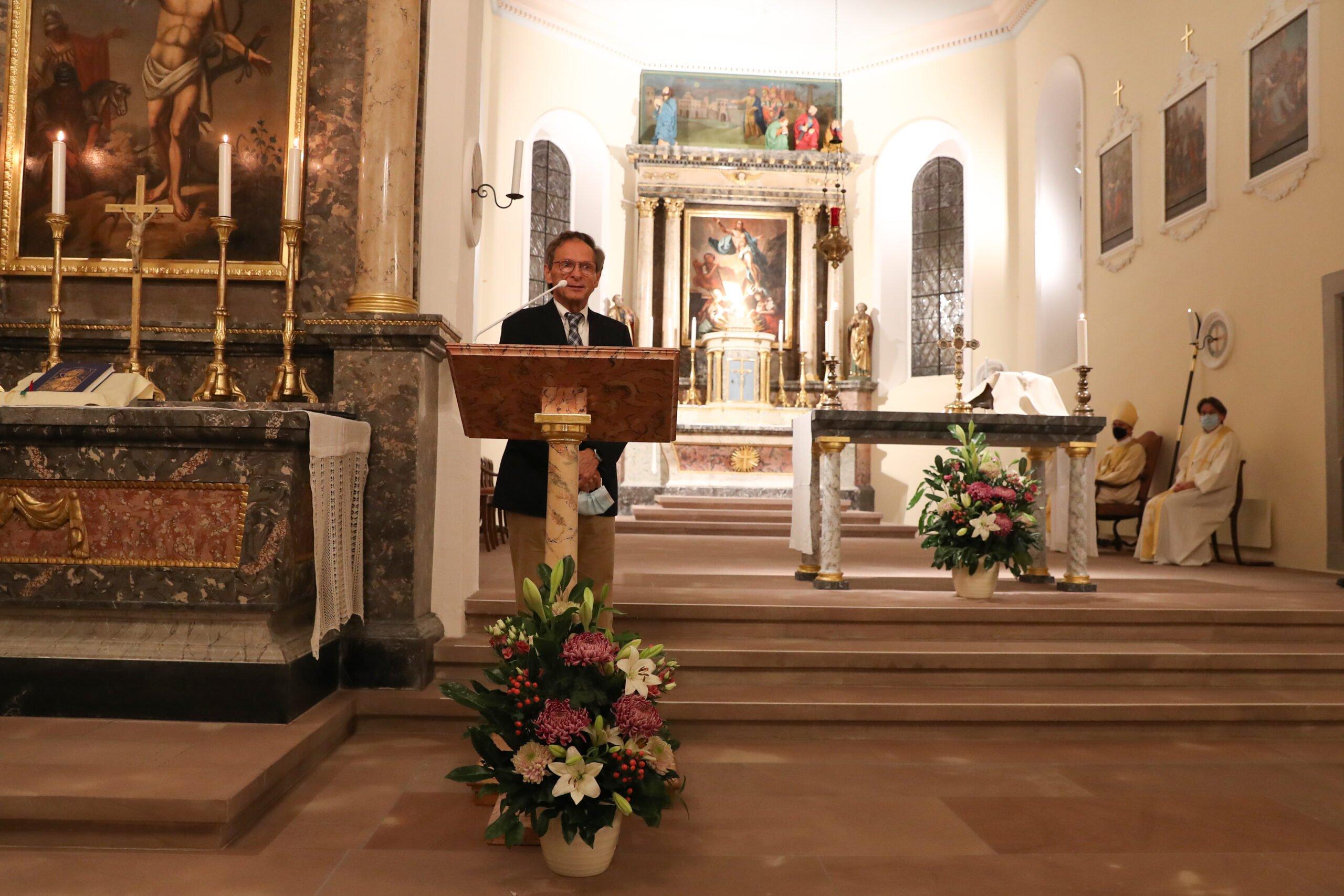 Kirchenrestauration 2020 Alte Dorfkirche St. Peter & Paul in Allschwil - Wiedereinweihung 21.&22.11.2020 - Kirchgemeindepräsident Dr. Reno Frey