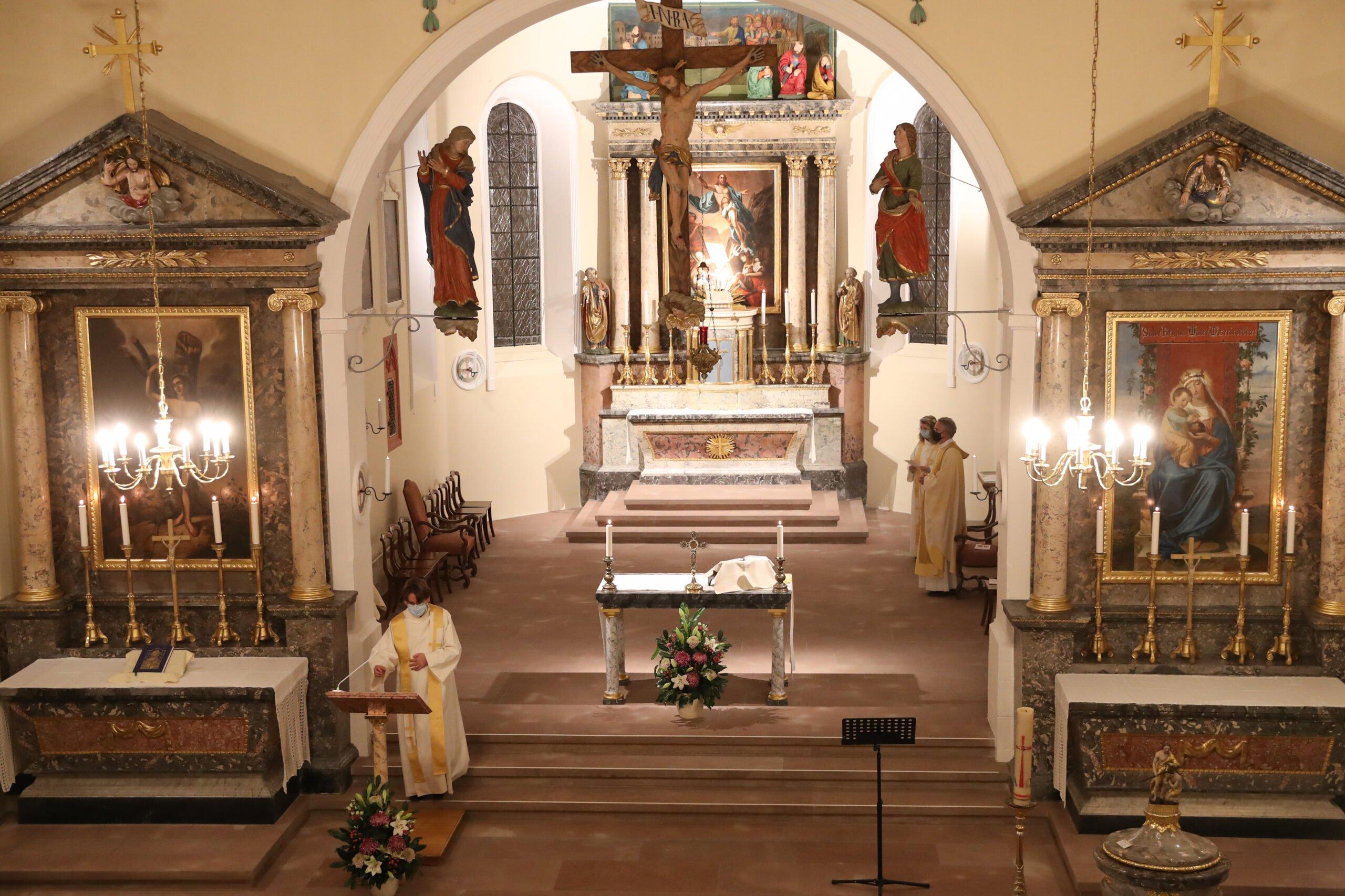 Kirchenrestauration 2020 Alte Dorfkirche St. Peter & Paul in Allschwil - Wiedereinweihung 21.&22.11.2020