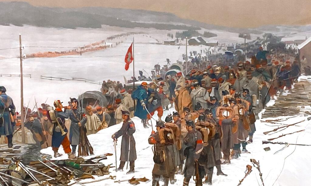 Vor 150 Jahren: Die Bourbaki-Armee wird interniert