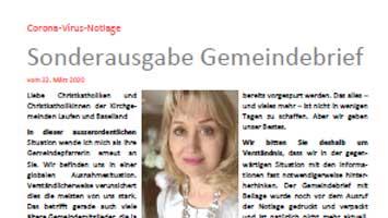 Sonderausgabe Gemeindebrief Baselland & Laufen Nr. 1