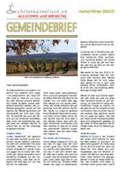 Gemeindebrief der Kirchgemeinden Allschwil-Schönenbuch und Birsigtal - Herbst/Winter 2020/21