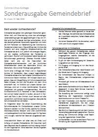 Sonderausgabe Gemeindebrief Baselland & Laufen zu Advent und Weihnachten 2020