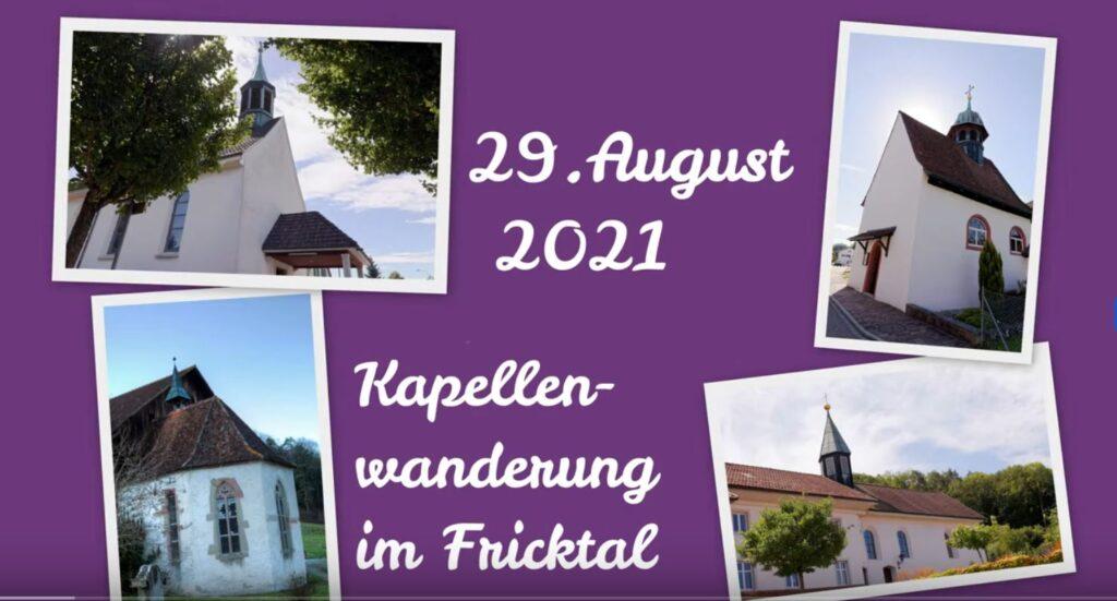 Vorschau auf die Kapellenwanderung am 29. August 2021