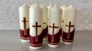 Frauenverein schmückte hübsche Osterkerzen