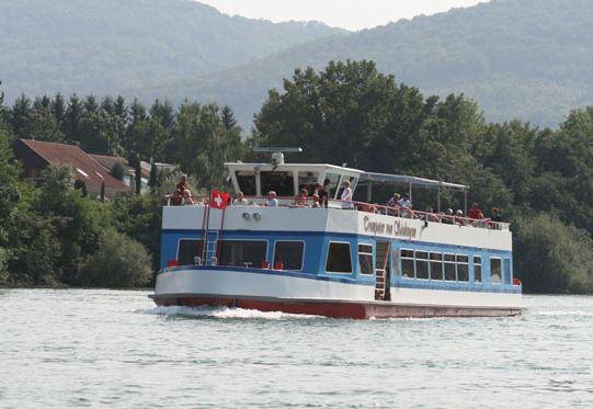 Fahrt mit dem Schiff Trompeter auf dem Rhein