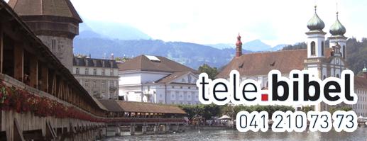 Pfr. Adrian Suter spricht die Telebibel